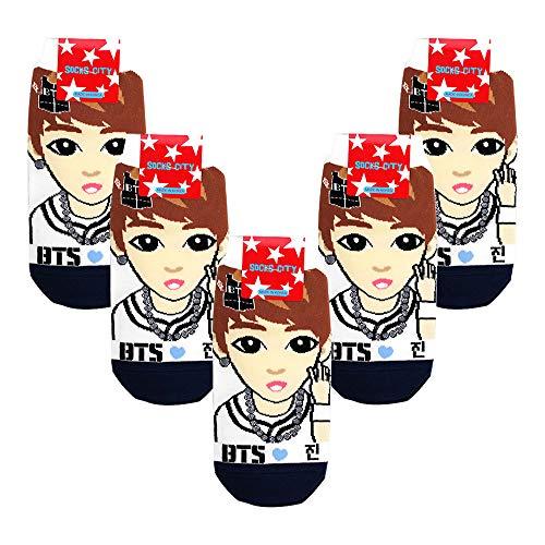 BTS Kpop Star Character Low Ankle Socks for Girls - - Einheitsgröße