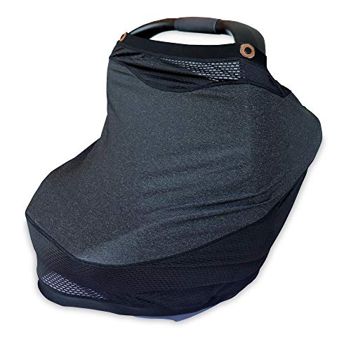 Boppy 4 and More Multi-Use Cover for Baby Car Seat Canopy, Nursing Scarf, Shopping Cart Cover, High Chair Cover, and More, Charcoal