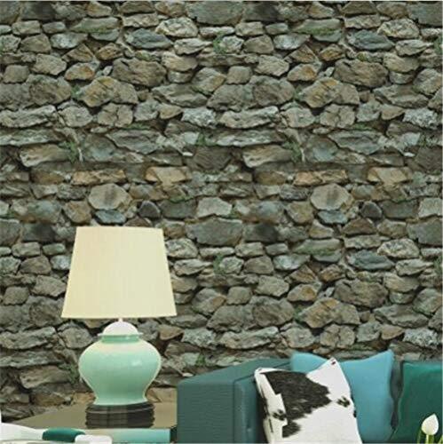 GUOOK Moderne Minimalistische Tapete PVC Retro 3D Stereo Imitation Stein Textur Tapete Dekoration Schlafzimmer TV Wand Wohnzimmer -53 cm (B) * 10 M (L), C