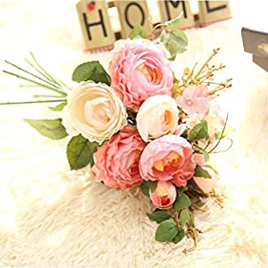 Lotus Ranunculus asiaticus Artificial Flowers Lulian Hydrangea Bundle Fake Flowers for Home Wedding Car Decoration