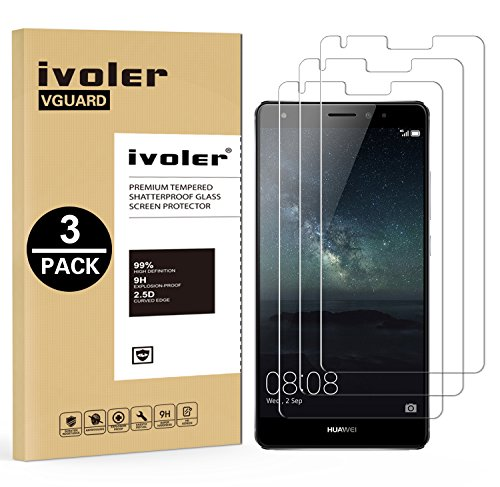 ivoler [3 Unidades] Protector de Pantalla para Huawei Mate S, Cristal Vidrio Templado Premium