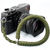 Camera Wrist Strap (Green) Higher-end Adjustable Paracord Camera Hand Strap, Compatible for Canon/Sony/Fujifilm/Panasonic/Nikon DSLR or Mirrorless Camera Straps
