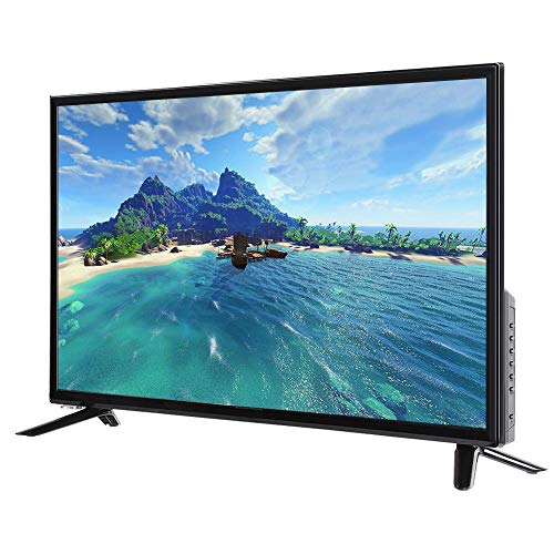 32-inch tv, 32-inch HDR Smart LCD-tv met multifunctionele WIFI breedbeeld 2K Smart TV met USB / HDMI / RF / RJ45, MPEG-ruisonderdrukking-tv met AI-spraakbesturing (EU)