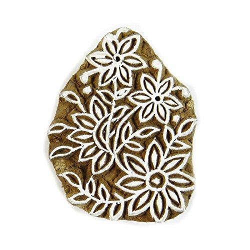 Knitwit Dekorative Holz Stempel Blumen Stempel Hand Sehnte Druckstock Textil Stempel