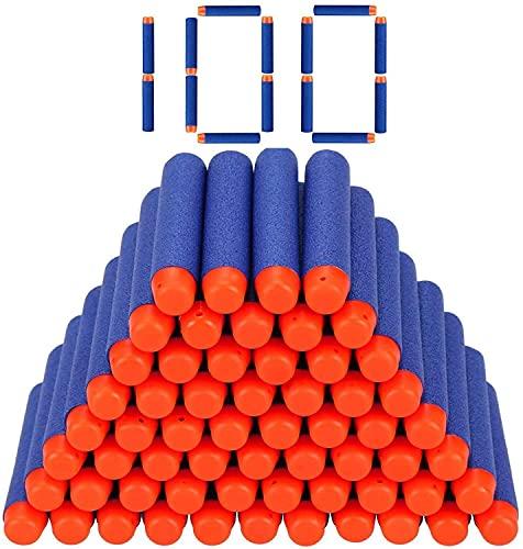 StillCool Nerf Darts, 100 Stück 7.2cm Foam Darts Pfeile Nachfüllpack Darts für Nerf N-Strike Elite Series Blasters Spielzeugpistole (Darkblue, 100)