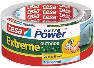 tesa extra Power Per Condizioni Estreme in Esterni - Biadesivo Rinforzato in Tessuto con Elevata Forza Adesiva per l'Uso E...