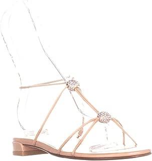 Stuart Weitzman Tweety Strappy Flat Sandals, Nude, 6.5 US