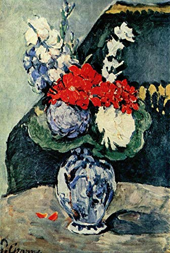 Cezanne Paul Bouquet in a Delft Vase p246 A1 Canvas - Art Painting Decor Wall G