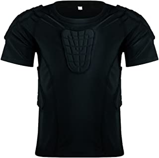 Kid's Padded Shirts Short Sleeve Compression Protective T Shirt Youth Protective Gear Football MMA Baseball Hockey Soccer Basketball Bike Cycling Rugby Parkour Paintball Snowboard Ski Volleyball