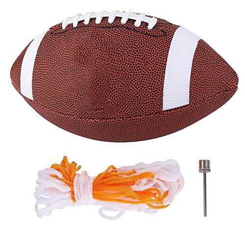 FAMKIT Trainings-Rugbyball, American Football, Gummi, Junior-Fußball, maschinengenäht, Rugby für Erwachsene