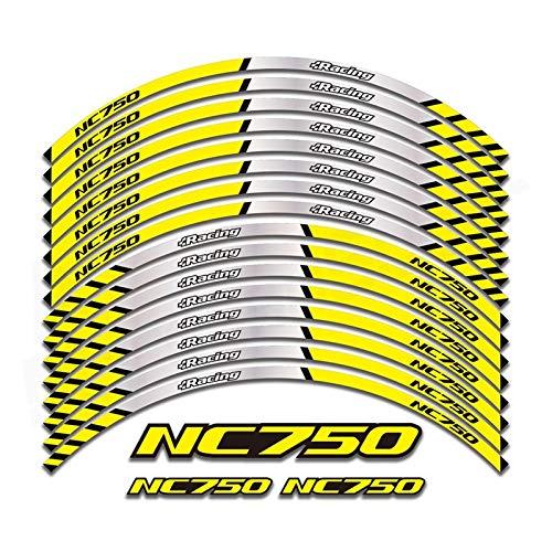 Etiqueta de la rueda de la motocicleta Nueva calidad de la rueda de la rueda de la rueda de la rueda de la rueda de la rueda de la raya del borde reflectante para NC750S NC750X NC750 Llantas de 17 pul