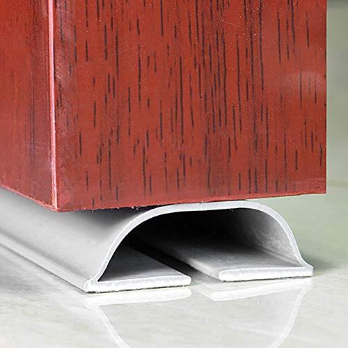 Selbstklebende Tür-Zugluftstopper, Gummi, wetterabisolierende Türbodendichtung für schalldichte, winddicht und verhindert Insekten. weiß