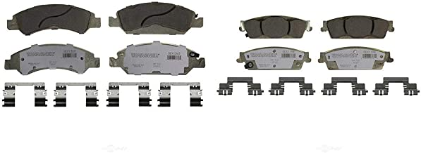 AutoDN Front and Rear 8 PCS Ceramic Disc Brake Pads Set For CADILLAC ESCALADE 2008