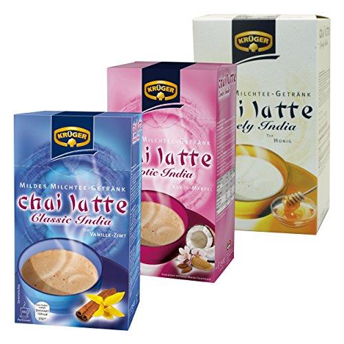 Krüger Chai Latte Classic & Exotic Lovely India Set, Mildes Milchtee Getränk, Drei Verschieden Sorten