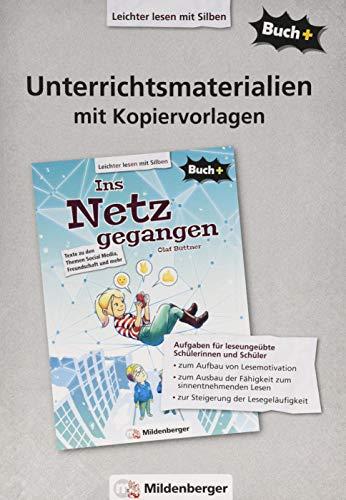 Buch+: Ins Netz gegangen - Unterrichtsmaterialien mit Kopiervorlagen (Buch+: Lesetexte für leseungeübte Schülerinnen und Schüler ab Klasse 5)
