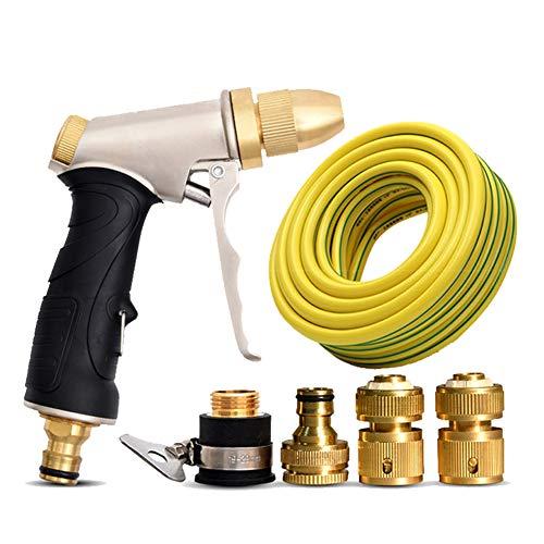 Slangmondstuk, Slangsproeier spuitpistool - Hoge druk metalen sproeier voor auto wassen/planten water geschikte tuinslang accessoryset+25m messing