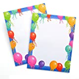 Gartner Studios 13630 Printer Paper Falling Balloons 8.5X11 25Sh, Multicolor