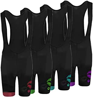 Newest July Designs Cycling Shorts with Pant Bib Shorts Pro/BIP Cycling Shorts / 3D Coolmax Padded/Breathable/Reflector