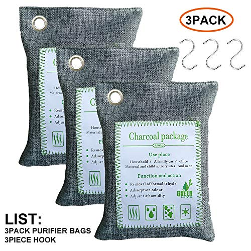 %11 OFF! Ecofriendly Activated Bamboo Charcoal Air Purifying Bag for Home, Pets, Car, Closet, Shoes,...
