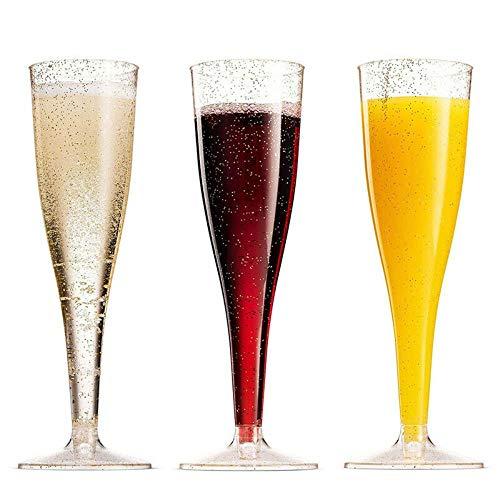 Ltong Home Party Club 5 x Champagne Wijnglas Fluiten Plastic glazen Herbruikbaar