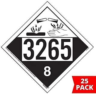3265 Placard, Class 8 Corrosive 25-pk. - 10.75