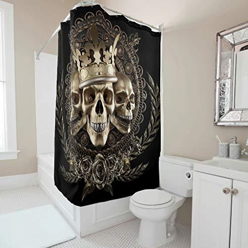 Toomjie Duschvorhang mit Haken wasserdichtes Polyester faltenbeständig dekoratives Badezimmerzubehör für Schlafsaal & Zuhause White 200x200cm