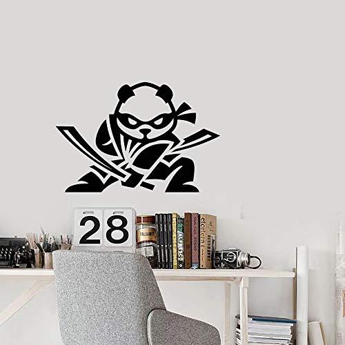 wopiaol Cartoon Baby Panda Muursticker Grappige Ninja Kinderen Slaapkamer Kwekerij Spelen Zone Home Decor Vinyl Muursticker Leuke muursticker