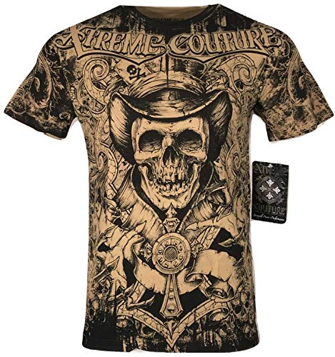 Xtreme Couture by Affliction Men T-Shirt The Conjuring Biker MMA Gym S-2X $40 (5XL) Beige
