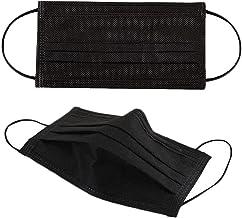 CCHYF 50pcs Black Disposable Face Masks Breathable 3-ply Mask