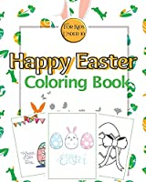 Happy Easter Coloring Book for Kids Under 10