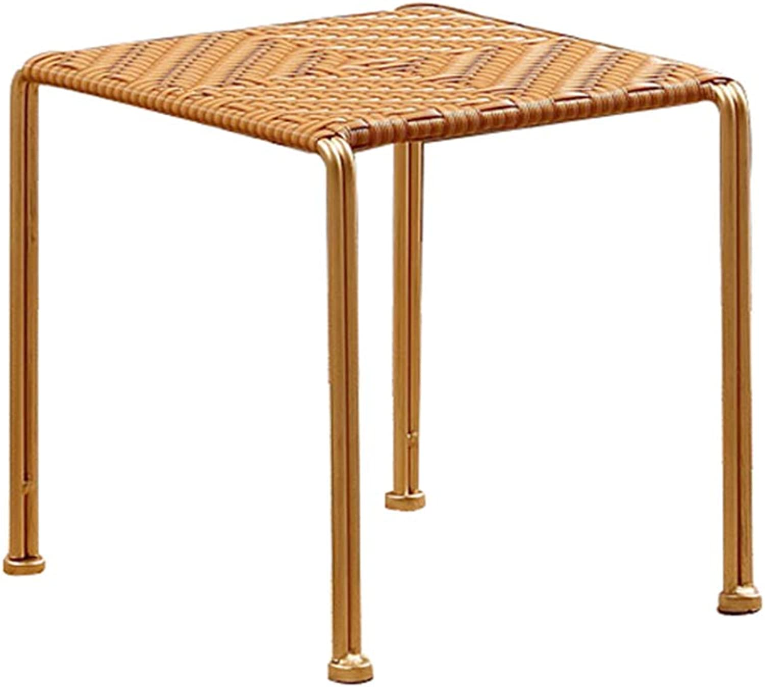 AIDELAI Bar Stool Chair- Rattan Stool Side Stool Rattan Chair Dining Chair Adult Bench Coffee Table Stool Stool Stool Plastic Stool Saddle Seat (color   B, Size   28  30  25CM)