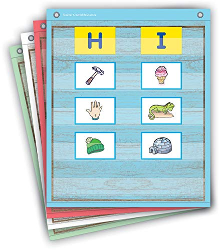 """Teacher Created Resources Painted Wood Magnetic Mini Pocket Charts (14"""" x 17"""")"""