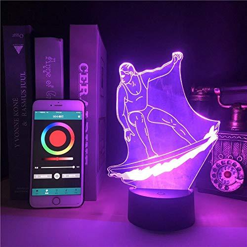 Lámpara de mesa creativa 3D de dibujos animados lindo personaje monopatín LED luz nocturna decoración regalo