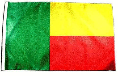FlagSuperstore© Benin Bootsflagge 45 x 30 cm – Baumhäuser, Wohnwagen – Ärmel 45 x 30 cm – Country
