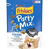 Purina Friskies Made in USA Facilities Cat Treats; Party Mix Beachside Crunch - (6) 6 oz. Pouches