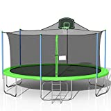 Steelway 16 FT Trampoline with Safety Enclosure Net and Safety Pad,...