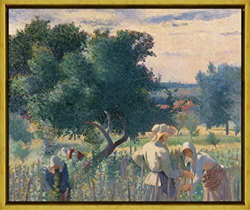 Berkin Arts Marco Henri Cross Giclee Lienzo Impresión Pintura póster Reproducción Print(Mujeres atando Las viñas) #XLK