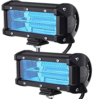Xinled 2pcs 5inch 72W 2-Row Work Light Bar 6000K Flood or Spot Lamp Marine LED lighting for Jeeps Off-road SUV Boats car accessaries-, high-strength LED lamps,Strong resistance