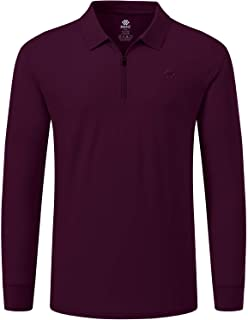 AjezMax Men's Golf Shirts Long Sleeve Polo Shirt Casual Solid