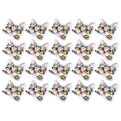 KUIDAMOS 20 Piezas Pegatinas de Tela Bordadas con Patrones Especiales para decoración de Zapatos, Abrigos, Pantalones, Bolsos