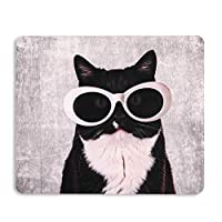 AOKSUNOVAマウスパッド かわいい おしゃれ 猫 光学 マウスパッド (24 x 20cm) マウスパッド オシャレ 可愛い
