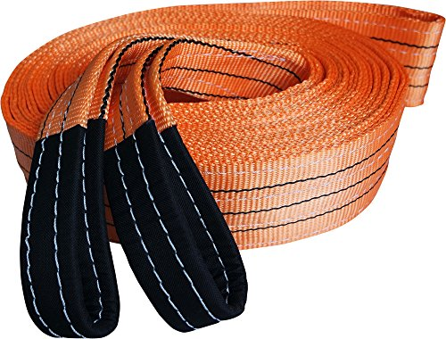Titan Auto Heavy Duty Recovery Strap | for Off-Road Recovery and Towing (3.5' x 30' 35K LBS, Orange...