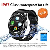 Bluetooth Smart Watch with Camera SIM Card Slot Smartwatch Touch Screen Unlocked Cell Phone Watch Whatsapp Facebook Sports Smart Wrist Watch Smart Watches for Android Phone Men Women Kids Bluetooth