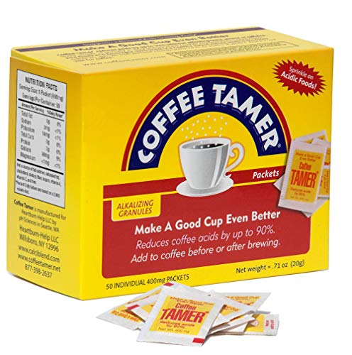 Coffee Tamer 50ct 400mg Packets- Acid Reducing Granules