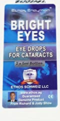 Ethos Bright Eyes Drops are an advanced eye drop formulation safe for use by people with Cataracts. ONLY Ethos Bright Eyes NAC Carnosine Eye Drops have been tested as 100% safe and trialled on mainstream UK Television PROTECTION against free radicals...