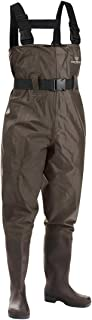 Fishing Chest Waders for Men with Boots Mens Womens Hunting Bootfoot Waterproof Nylon and PVC with Wading Belt