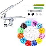 Botones de plástico de Color,Botones de Resina, Botones de Resina de Color, Herramientas de instalación, Juego de alicates de presión Manual, Adecuado para la decoración de Diferentes Personas