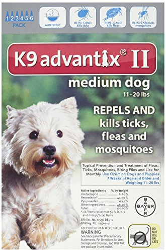 K9 Advantix II for Dogs 11 to 20 lbs 6 Count