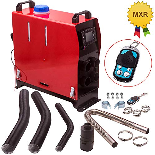 maXpeedingrods 12V 5KW Air Diesel Heater LCD Switch + Remote Control All in 1 for Caravan Trucks Campers Boat (4 Holes)