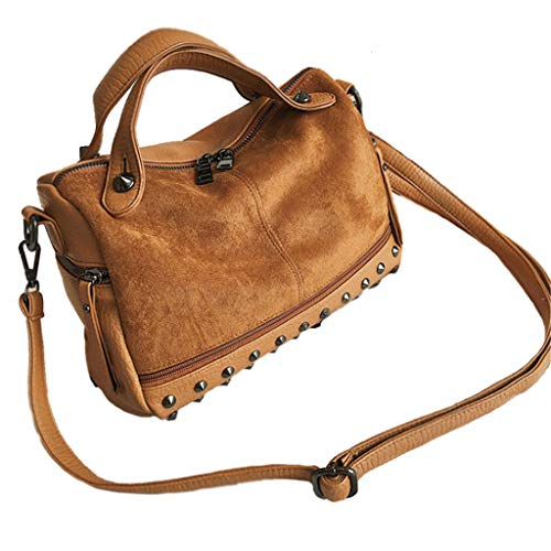 Top Design Fashion Woman Sac À Main Souple Sacs À Bandoulière Crossbody Bag Wallet (Couleur : Brown)